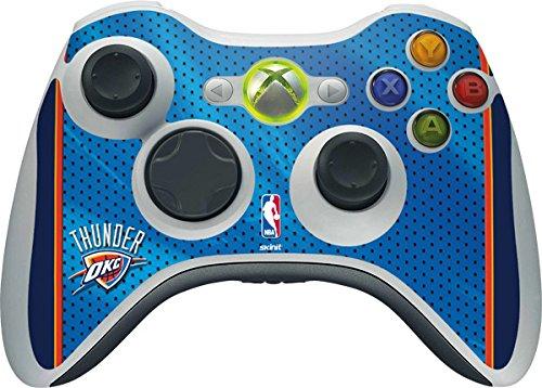 NBA Oklahoma City Thunder Xbox 360 Wireless Controller Skin - Oklahoma City Thunder Blue Jersey Vinyl Decal Skin For Your Xbox 360 Wireless Controller by Skinit