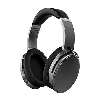 Auriculares inalámbricos Bluetooth, auriculares estéreo de alta fidelidad plegables, orejeras cómodas, micrófono con