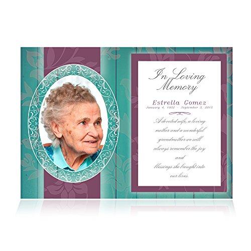 Memorial Announcement Post Cards 5x7 in - set of 25