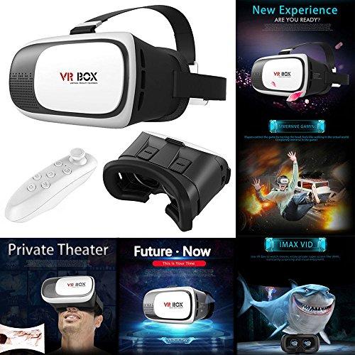 Google Cardboard 2nd Gen. VR Box Virtual Reality 3D Glasses Bluetooth Remote Control