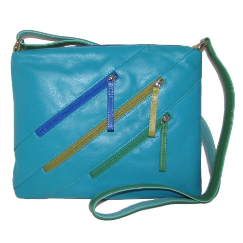Handbag Leather Zipper Tropics body Cross Cool wqgBxq06