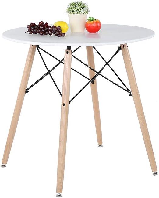 Table de salle à manger ronde, table de cuisine de style ...