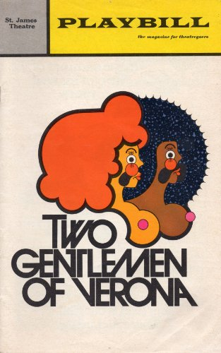 Playbill for the Original Broadway Production of Two Gentlemen of Verona, the