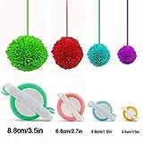 Pompom Maker, EFly 4 Pcs Different Sizes Pom-pom