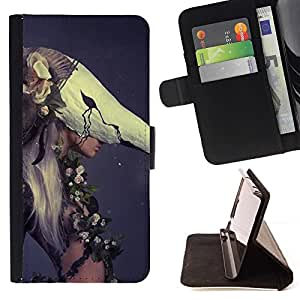 Momo Phone Case / Flip Funda de Cuero Case Cover - Mujer de la manera Haut Couture - Samsung Galaxy S6 Edge Plus / S6 Edge+ G928