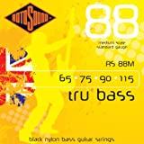 Rotosound RS88M Black Nylon Flatwound Medium Bass Guitar Strings (65 75 90 115)