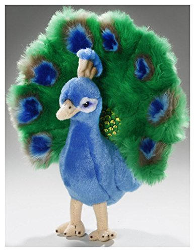 Peacock Plush - Carl Dick Peacock 7/10 inches, 25cm, Plush Toy, Soft Toy, Stuffed Animal