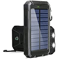 Solar Charger, BESWILL 10000MAH Solar Phone Charger...