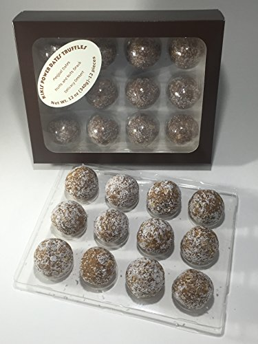 Medjool Dates Fruits and Nuts Delicacy Truffles [12pcs, 12oz - Day Dates Valentine
