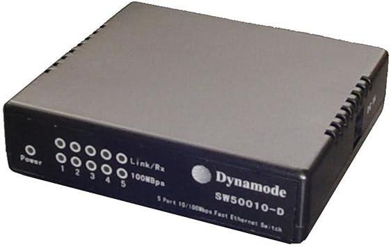 001812 Dynamode 5 Port LAN Switch Network Hub 10//100 Ethernet with UK PSU