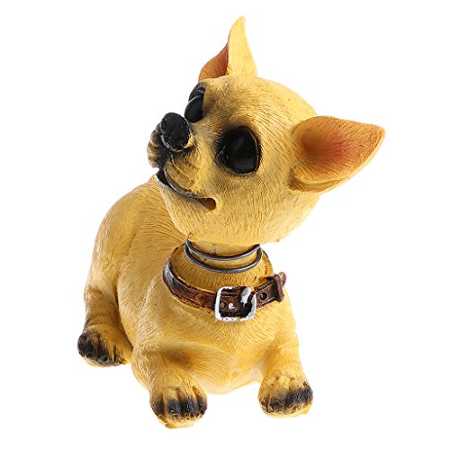 CUTICATE Cute Bobble Head Dogs for Cars Dashboards Auto, Mini Animal Figures, Home Office Desktop Decoration, 4 Types for Choose - Chihuahua