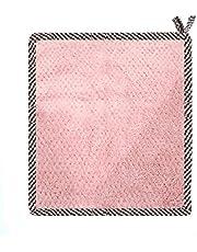 laoonl Wielofunkcyjny ręcznik kuchenny z pierścieniem do zawieszania pogrubiona miękka woda chłonie wodę narzędzie do czyszczenia ręczników