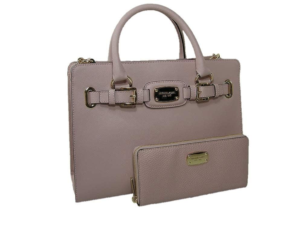 d97dd5c82f57 New Michael Kors Purse Satchel Bag Crossbody & Wallet 2 Piece Set Pink  Genuine Leather: Handbags: Amazon.com