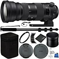 Sigma 150-600mm f/5-6.3 DG OS HSM Sports Lens for Nikon F Bundle with Manufacturer Accessories & Accessory Kit (18 Items)