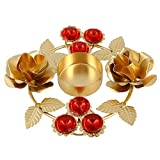 Indian Home Decorations Diwali Diya Lights Candle Holder Floral Arrangements