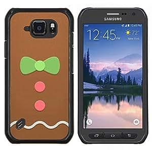 Hombre Bowtie rosa verde de Navidad- Metal de aluminio y de plástico duro Caja del teléfono - Negro - Samsung Galaxy S6 active / SM-G890 (NOT S6)