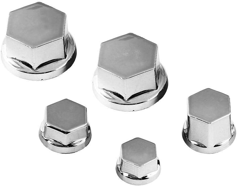 Qiilu 30Pcs Plastic /& Electroplating Motorcycle Motorbike Screw Nut Bolt Cap Screw Cover Silver