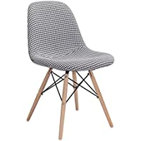 Zuo Modern Sappy Dining Chair, Hounds tooth