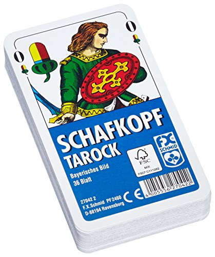 Ravensburger 27042 2 Schafkopf/Tarock Card Game with Clear Case by Ravensburger