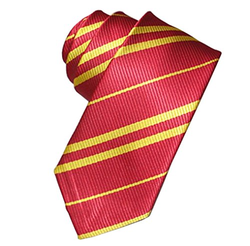 Tie Costume Striped Necktie Halloween Cosplay Party Supplies Accessories for Kids and Adults (Red)