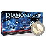Microflex MF-300-M Medium Diamond Grip Latex Gloves 100 Count
