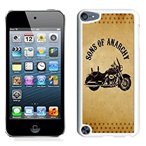 NEW Unique Custom Designed iPod Touch 5 Phone Case With Sons of Anarchy Motorcycle_White Phone Case
