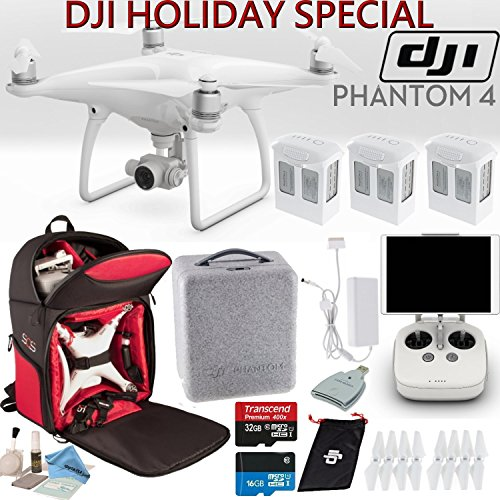 DJI-Phantom-4-Quadcopter-Backpack-Bundle-Includes-3-Phantom-4-Batteries-Soft-Padded-Backpack-16GB-MicroSD-Card-and-more