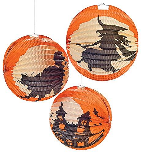 Halloween Silhouette Paper Lanterns (6 Pack) 10