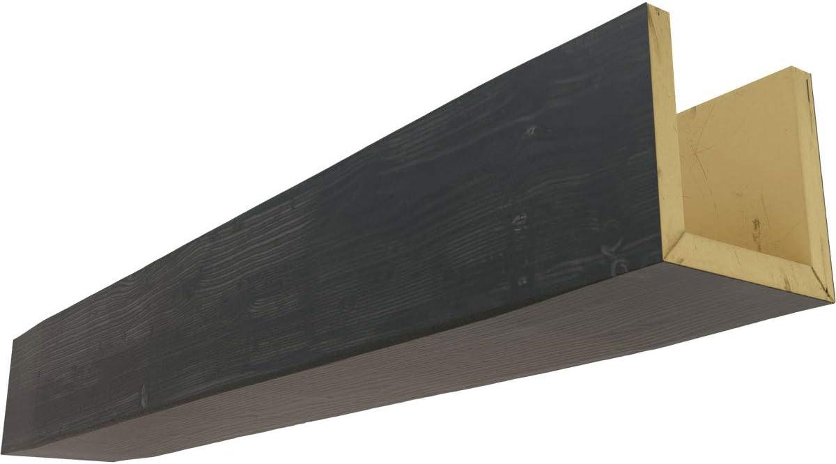 Amazon Com Ekena Millwork Bmsd3c0040x040x096es 3 Sided U Sandblasted Endurathane Faux Wood Ceiling Beam 4 W X 4 H X 8 L Espresso Finish Home Improvement