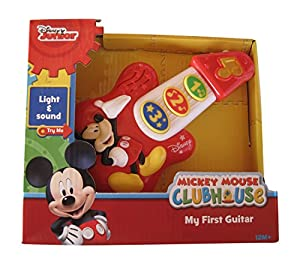 disney mickey mouse my first guitar 7 inches toys games. Black Bedroom Furniture Sets. Home Design Ideas