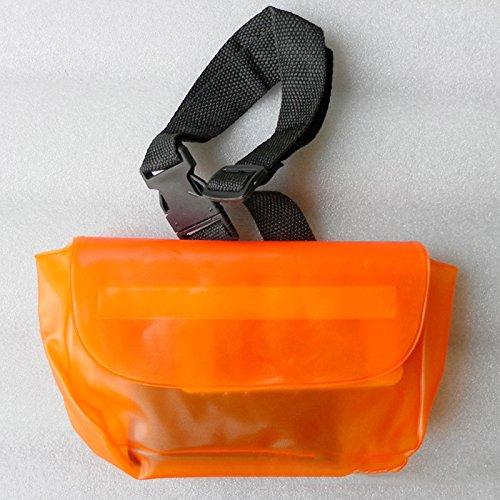 fovolat防水ポーチ/防水バッグ|adjustable Longウエストストラップ|理想的な防水電話ケース/防水財布for Swimming and Boating B07D3SDSMY  オレンジ