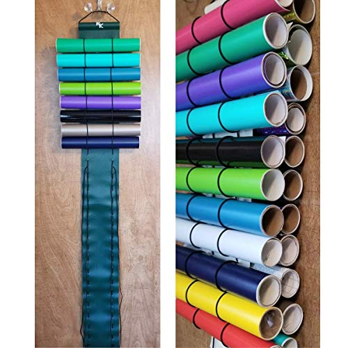 Vinyl Roll Holder,Diamond Painting Holds 50 Rolls, 25 on each side, Hunter Green from The Roll Keeper