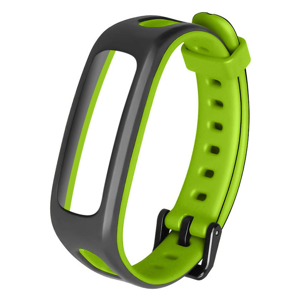 for Huawei Honor 4 Watch Band Bracelet Replacement Sport Silicone Strap Wirstband Bands for Huawei Honor 4 Smart Watch (C)