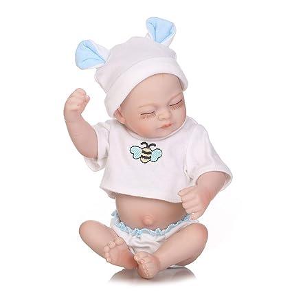 Lindo Reborn Bebé Muñecas Silicona Cuerpo Completo Mini Tamaño ...