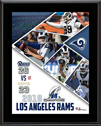 Los Angeles Rams 2018 NFC Champions 10.5'' x 13'' Sublimated Plaque - NFL Team Plaques and Collages