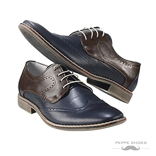Modello Sassari - Handmade Colorful italiennes Chaussures en cuir Oxfords Casual Souliers de Formal Prime Unique Vintage Gift Lace Up Robe Hommes