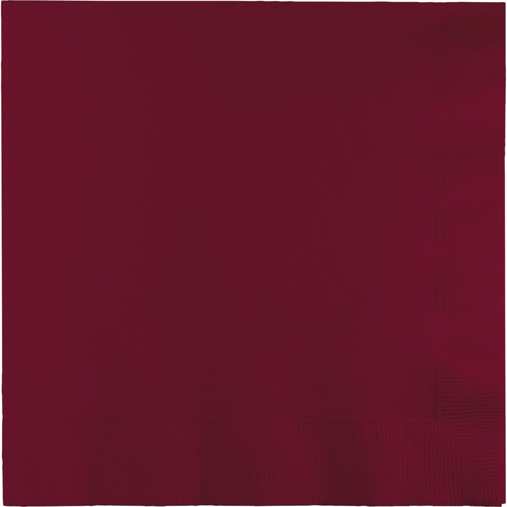 500-Count Touch of Color 3-Ply Paper Lunch Napkins, Burgundy