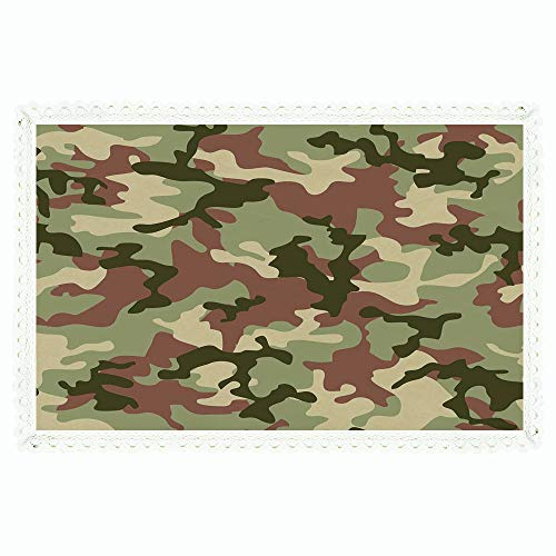 "60""x84"" Rectangle Polyester Linen Tablecloth,Camo,Illustrated Green Camouflage in Forest Colors Hunter Combat,Dried Rose Dark Green Army Green,for Dinner Kitchen Home Decor"