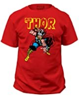Thor-Mens War Hammer T-Shirt, Color: Red