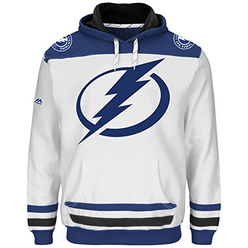 (New Tampa Bay Lightning NHL Double Minor Hoodie Fleece Sweatshirt Sewn Team Emblem Mens Big & Tall Size 3X )