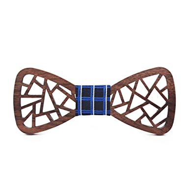 Pajarita for hombres, mujeres Corbata de madera, diseño poligonal ...