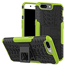 Oneplus 5 Case, NOKEA Dual-Layer [Soft TPU Interior] [Durable PC Exterior] Case For Oneplus 5 Case (2017) (Green)