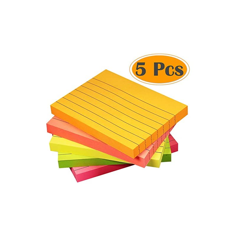 Selizo Super Sticky Notes Lined, 3 in x