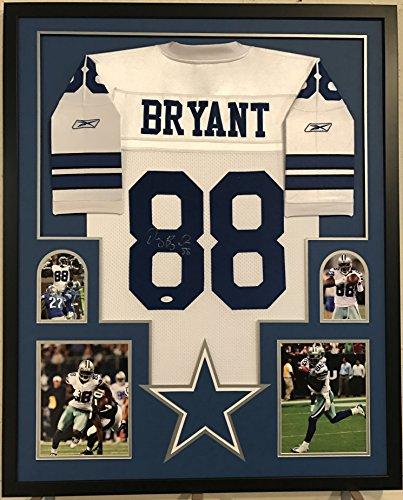 Dez Bryant Signed & Framed Cowboys Home White Reebok Jersey...JSA COA