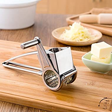 [Deals Sales Today 2016] IBEET Cheese Grater [Stainless Steel]- Rotary Razor Sharp Blades - Hand-Crank Cheese Grater Shredder - Multi Use Kitchen Tools