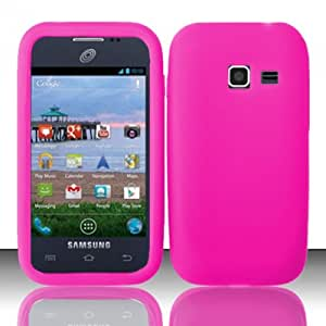 3-in-1 Bundle For Samsung Galaxy Centura - Soft Rubber Silicone Skin Cover (Hot Pink)+ICE-CLEAR(TM) Screen Protector Shield(Ultra Clear)+Touch Screen Stylus