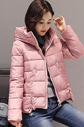 eb11ab81f5 2018 Winter new Korean Slim thin casual fashion short paragraph solid color  hooded padded jacket down