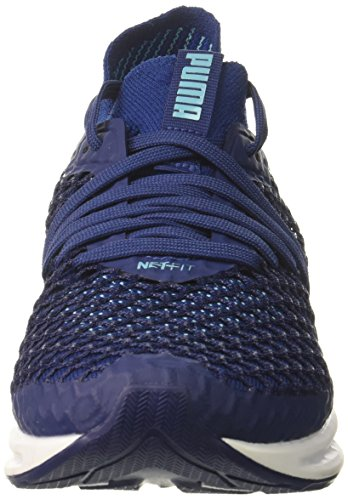 PUMA Women's Ignite Netfit Wn, Blue Depths-Nrgy Turquoise, 11 M US