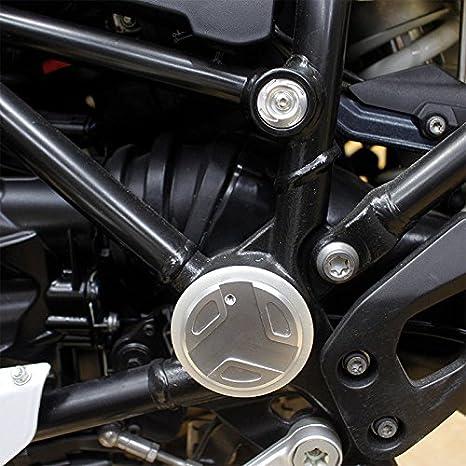 Semoic Motorcycle Accessori Telaio Coperchio Tappi Tappo per Decor R 1200Gs R 1200 GS R1200Gs LC Adventure Tappo Telaio 2013-2017 Set Titanio