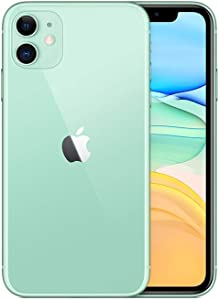 iPhone 11 - Model/A2223- Unlocked - Dual Sim - Dual Front and Rare Camera-Glass Front/Back, Aluminum Framed Features- International Version (Green, 128GB + 4GB)